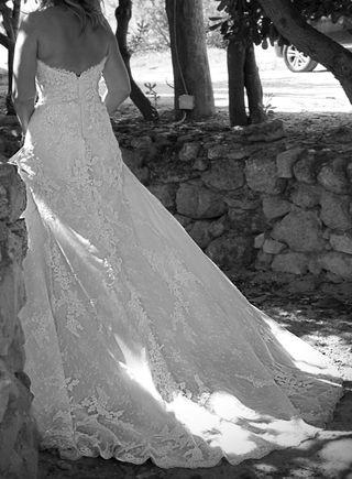 vestido de novia dos piezas más velo