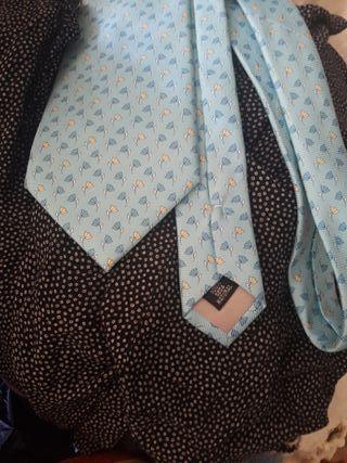 corbata seda pura natural