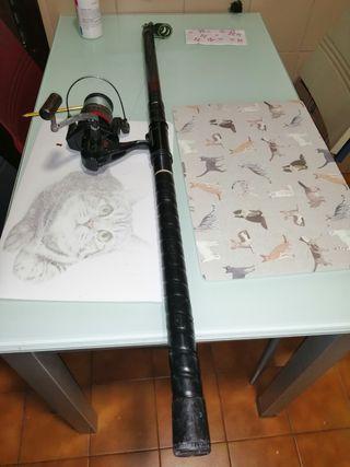 caña de pescar de carbono 4.5m