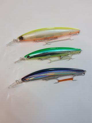 3 Señuelos artificiales pesca Daiwa