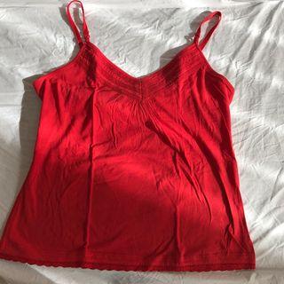 Camiseta de mujer roja Tintoretto con tirantes