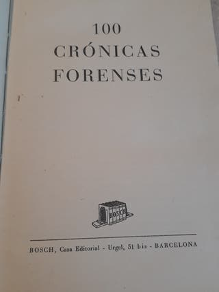 100 Cronicas Forenses Joaquin Hospital Rodes
