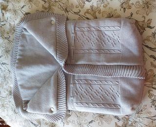 Saco de lana gris para carro