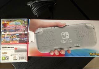 Nintendo switch lite + pokemon escudo