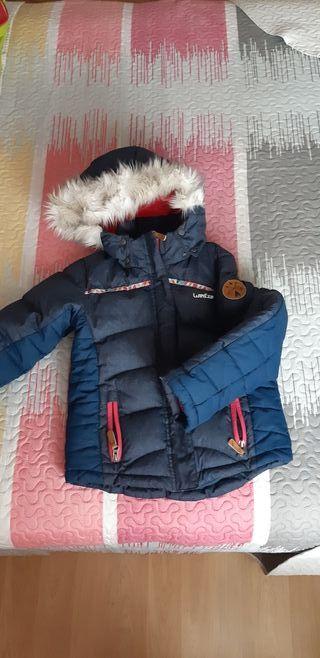 Abrigo niña talla 6 nieve Decathlon