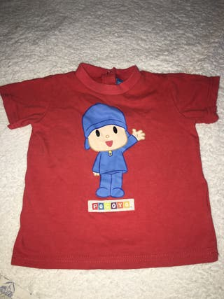 Camiseta niño bebe pocoyo 12 meses