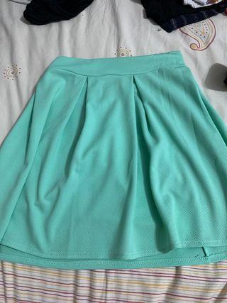 Falda verde menta
