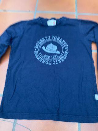 Camiseta azul marino talla 10-11 de roberto torret
