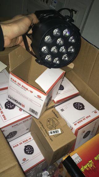 Foco led par 36 rgb+w acoustic control