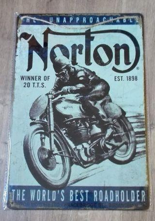Cartel decoración vintage Norton