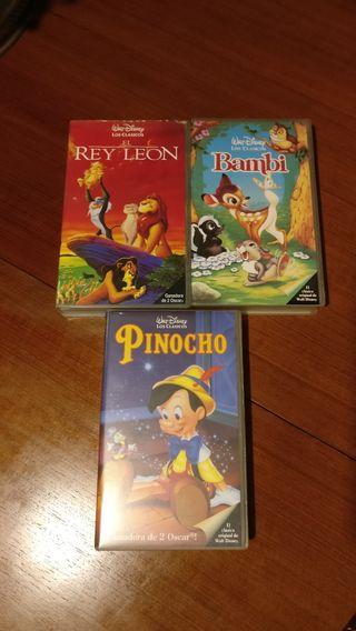 VHS Disney Pack de 3 Películas