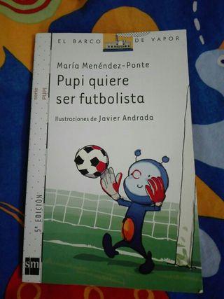 libro infantil Pupi quiere ser Futbolista