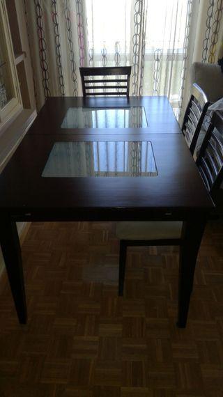 Mesa salón extensible+regalo 4 sillas