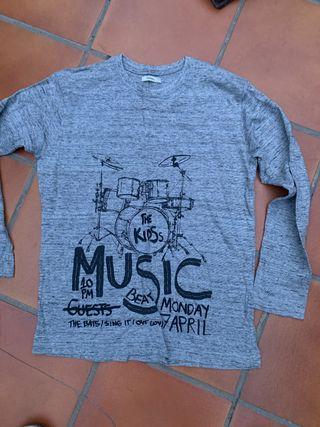 Camiseta gris talla 11-12 de sfera