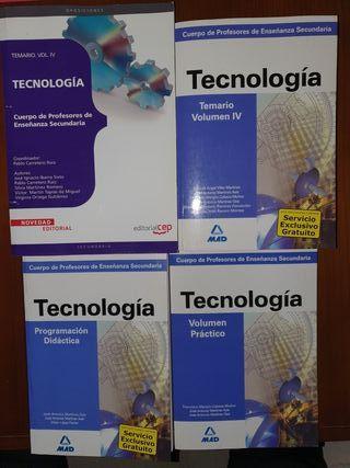 Temario Vol IV secundaría Tecnología