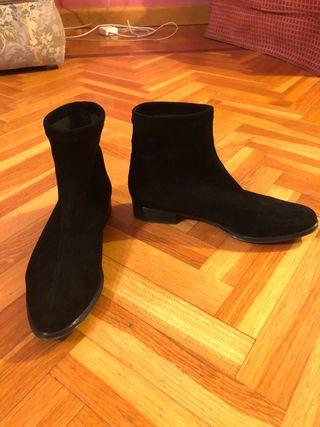 Botin calcetín negro