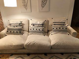 Sofá de diseño tela tipo terciopelo súper comodo