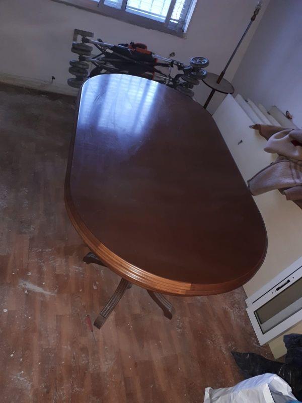 Mesa de roble macizo