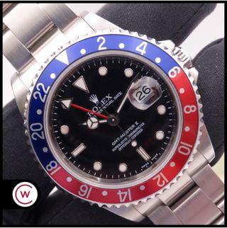 ROLEX GMT Master II 16710 SEL No Holes Pepsi