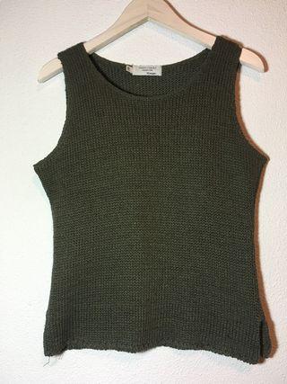 Camiseta punto verde