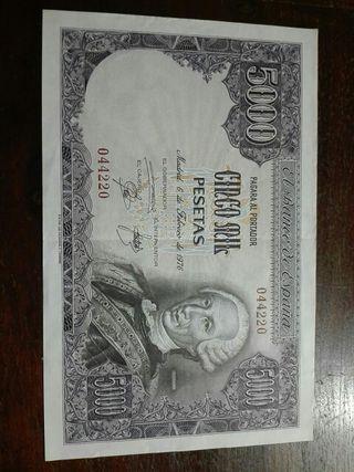 Billete de 5.000 pesetas de Carlos III