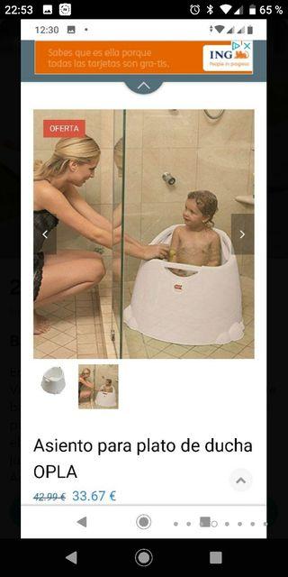 Bañera bebé plato de ducha Opla okbaby