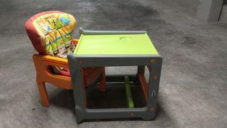 trona silla y mesa escritorio bebé