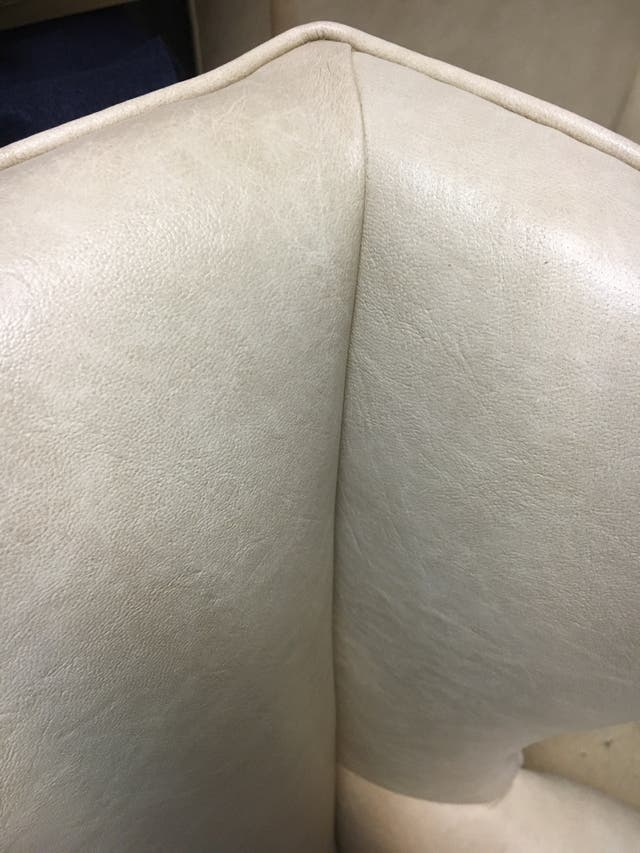 Dos Sillón de skai blanco