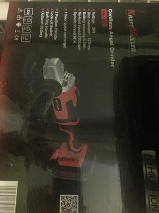 Nueva amoladora 20v 2 batería