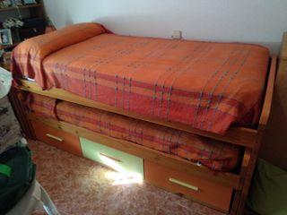 Cama mueble de madera