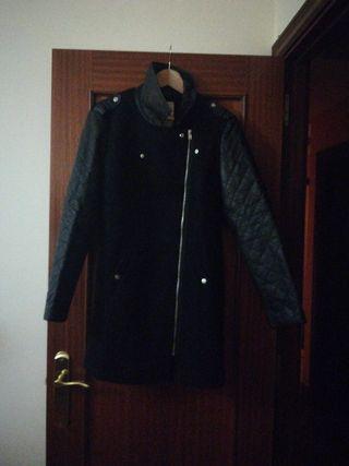 abrigo lana negro