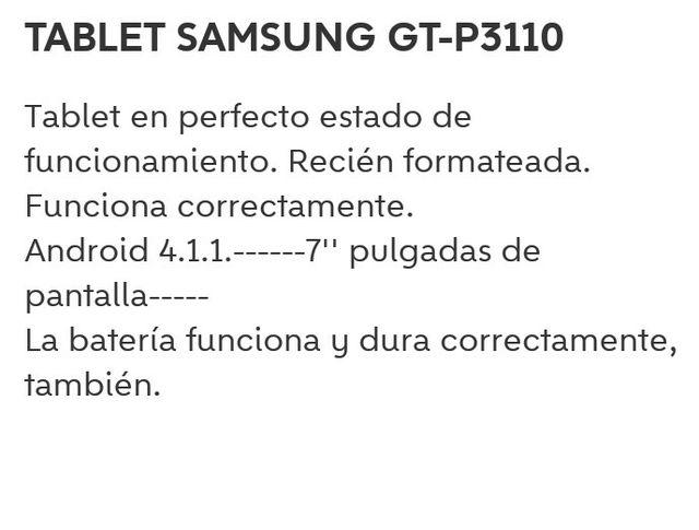 TABLET SAMSUNG GT-P3110