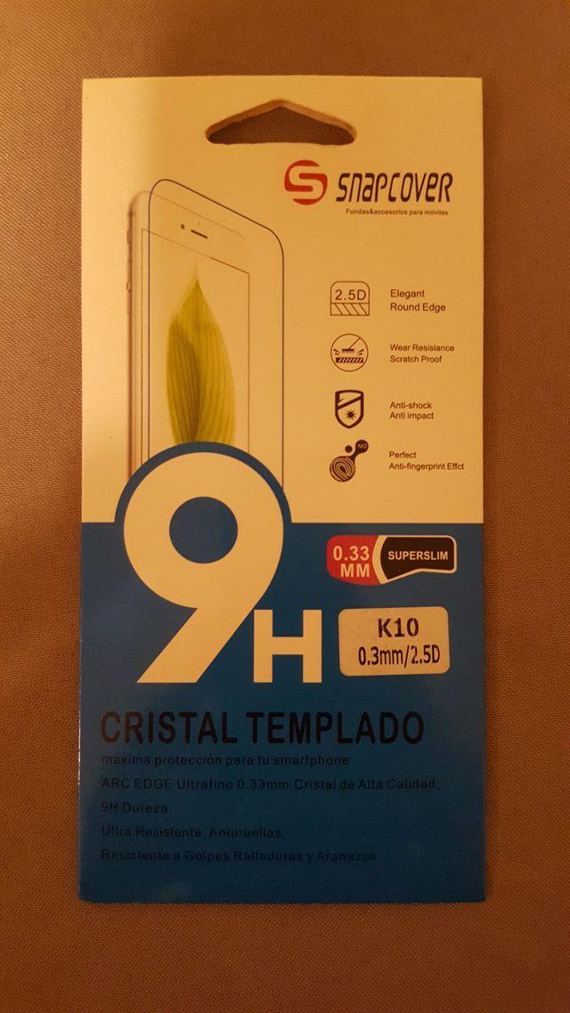 CRISTAL TEMPLADO MOVIL LG K10 2 EUROS