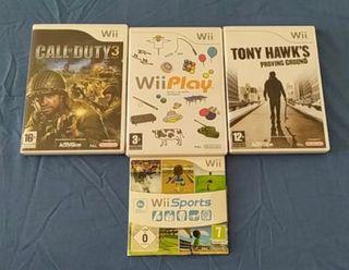 4 juegos Wii por 15€