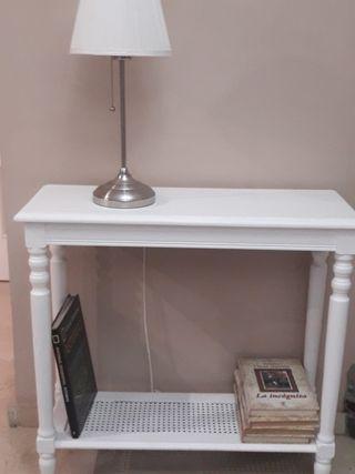 mesa auxiliar salón de madera