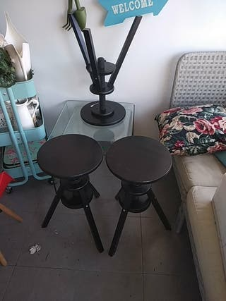 taburete Ikea negro