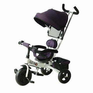 Triciclo para Niños con Barra Telescópica Capota