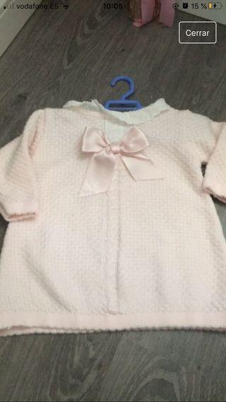 Vestido sardon talla 12 meses color rosa