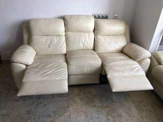 Sofa de piel reclinable