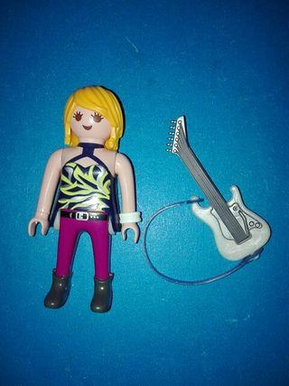 playmobil guitarrista guitarra electrica rock