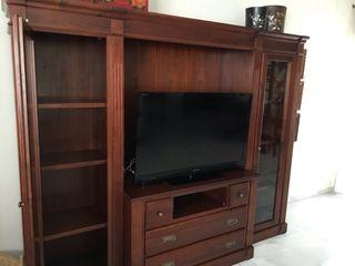 Mueble librería con módulo para TV