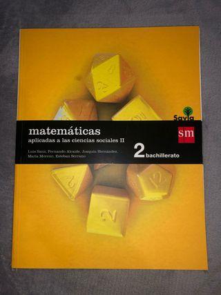 Libro matemáticas 2 bachillerato sm
