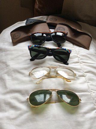 Lote de 4 gafas Ray Ban auténticas antiguas