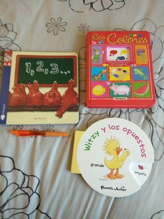 3 cuentos infantiles colores, números, opuestos