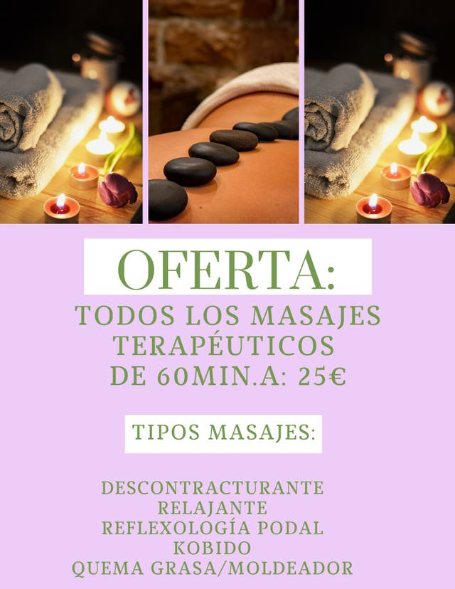 Masajes de Terapias Alternativas (NO SEXUALES):