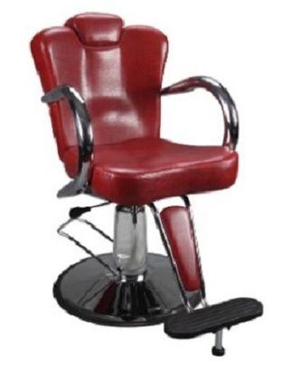Silla de peluquería de cuero sintético RED