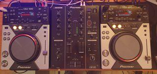 CDJ 400 DJM 350 Pack Dj Completo