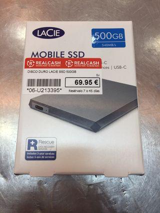 DISCO DURO EXTERNO LACIE SSD 500 GB