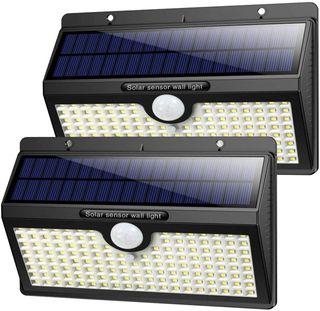 2 Focos solares LED con 138 led (A ESTRENAR)