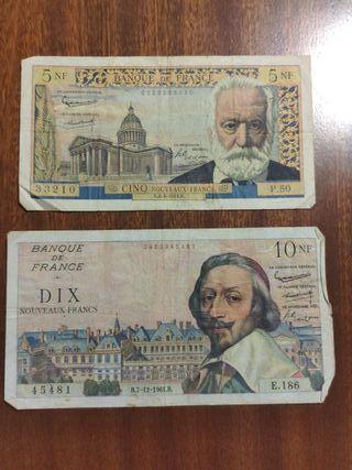 billetes antiguos lote